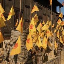 Wat Phan Tao - Flaggen