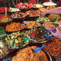 Buffet on Market in Luang Prabang