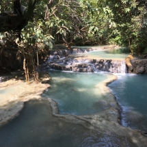 Kuang Si Waterfall Becken in Luang Prabang