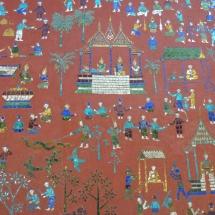 Tempel Kunst in Luang Prabang