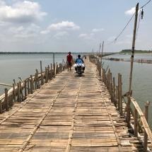 Bambusbrücke in Kampong Cham