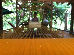 Traditional silk weaving