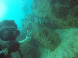 Malte and the bannerfish