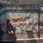 Street Art Schaukel George Town