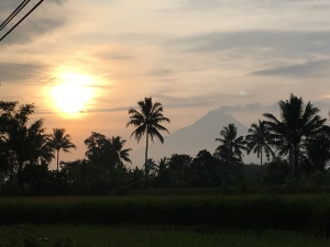 Yogyakarta Mount Merapi Sonnenaufgang