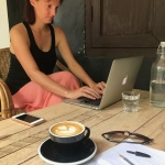 arbeiten im Cafe in Kuala Lumpur