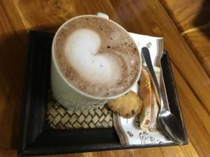 Schoko im Vida Café, Laos